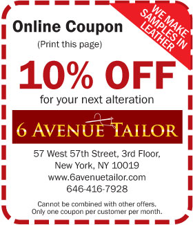 New York Men S Alterations Amp Tailor Services 6th Avenue